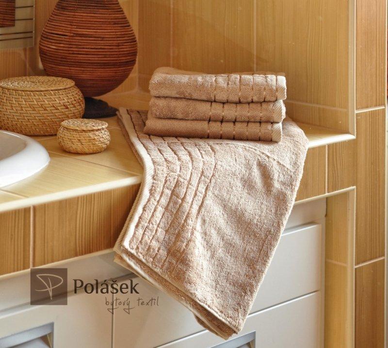 Polášek Holešov Bambus béžová Béžová 60% bambus + 40% bavlna Ručník 50x100