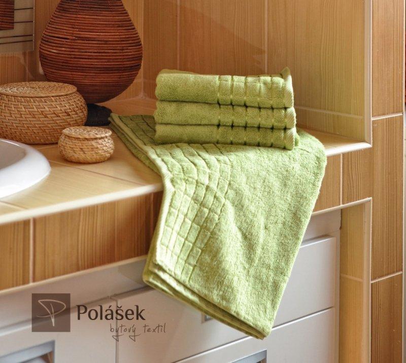 Polášek Holešov Bambus zelená Zelená 60% bambus + 40% bavlna Ručník 50x100