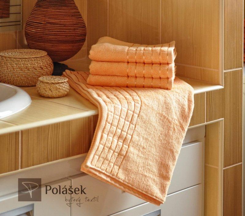 Polášek Holešov Bambus losos Oranžová 60% bambus + 40% bavlna Ručník 50x100