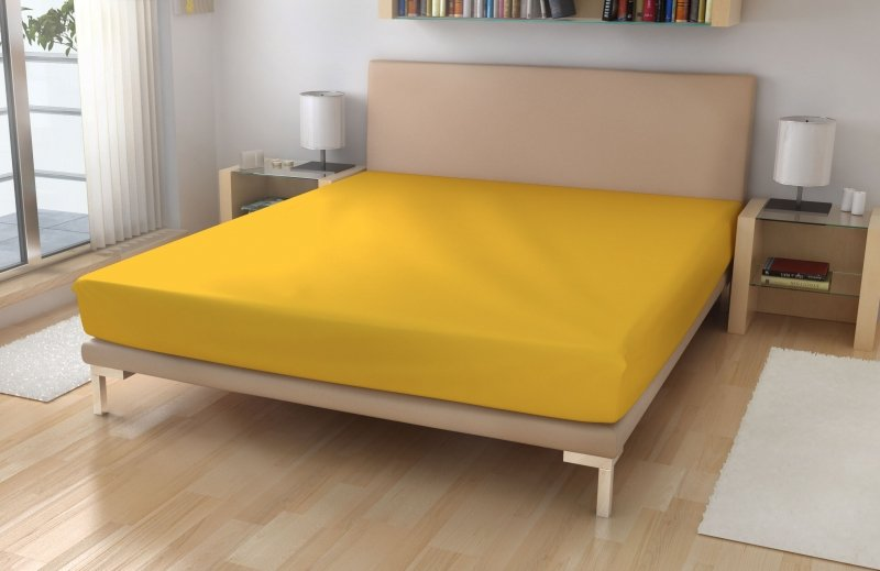 Irisette Jersey prostěradlo č.7 žlutá LYCRA Žlutá 95% bavlna + 5% elastan 180x200