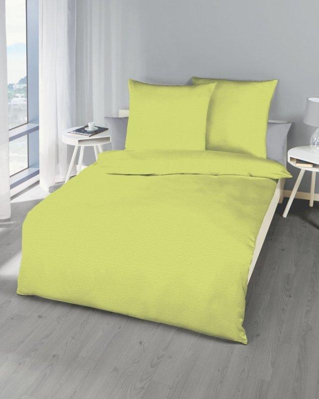 Polášek Holešov Povlečení krep zelené 100% bavlna Zelená 140x200 / 70x90
