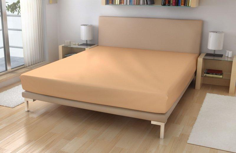 Polášek Jersey prostěradlo č.3 meruňková  LYCRA Oranžová 70x140 95%bavlna 5%elastan