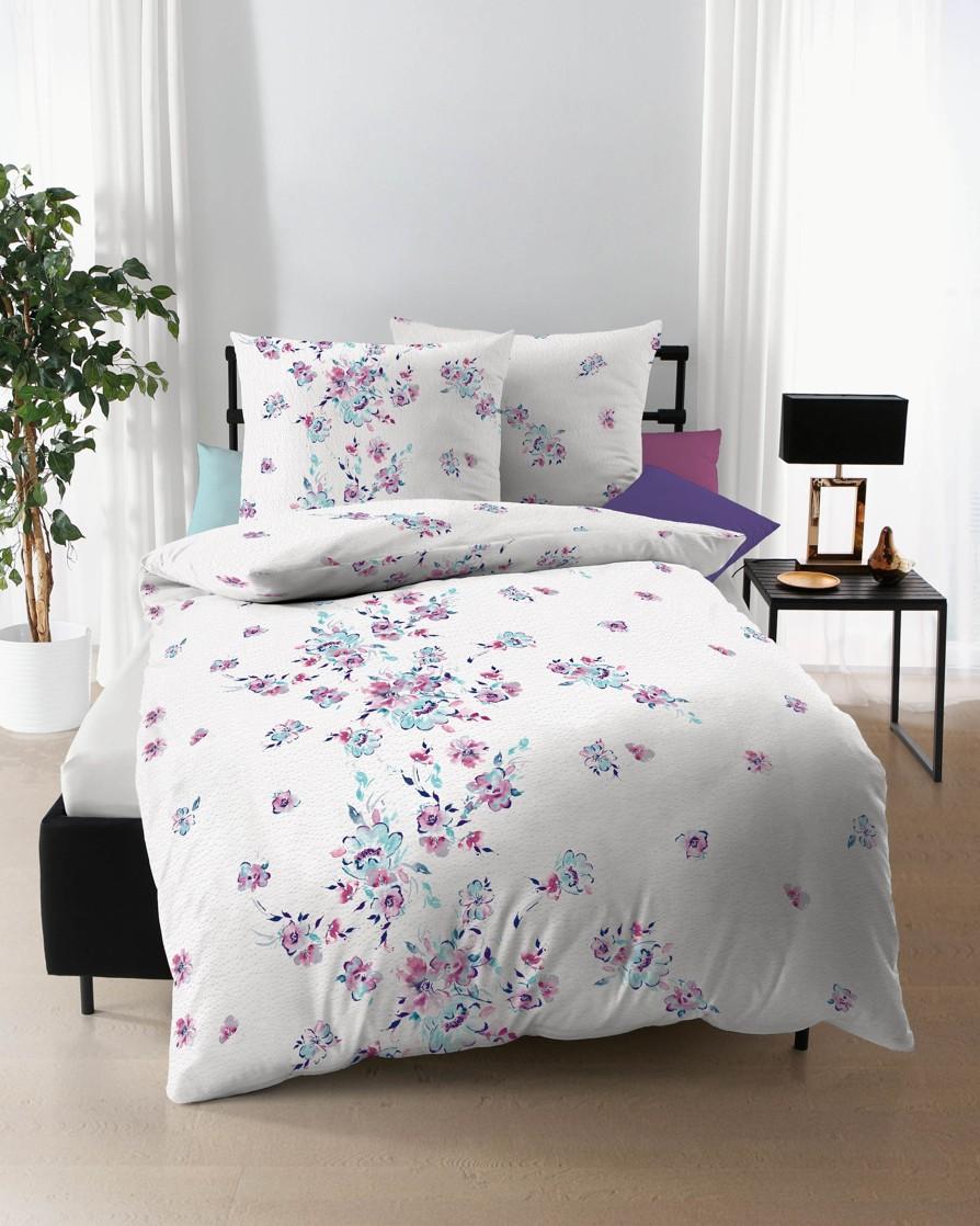 Polášek Povlečení krep Blossom 173/43 100% bavlna květiny 140x200 / 70x90