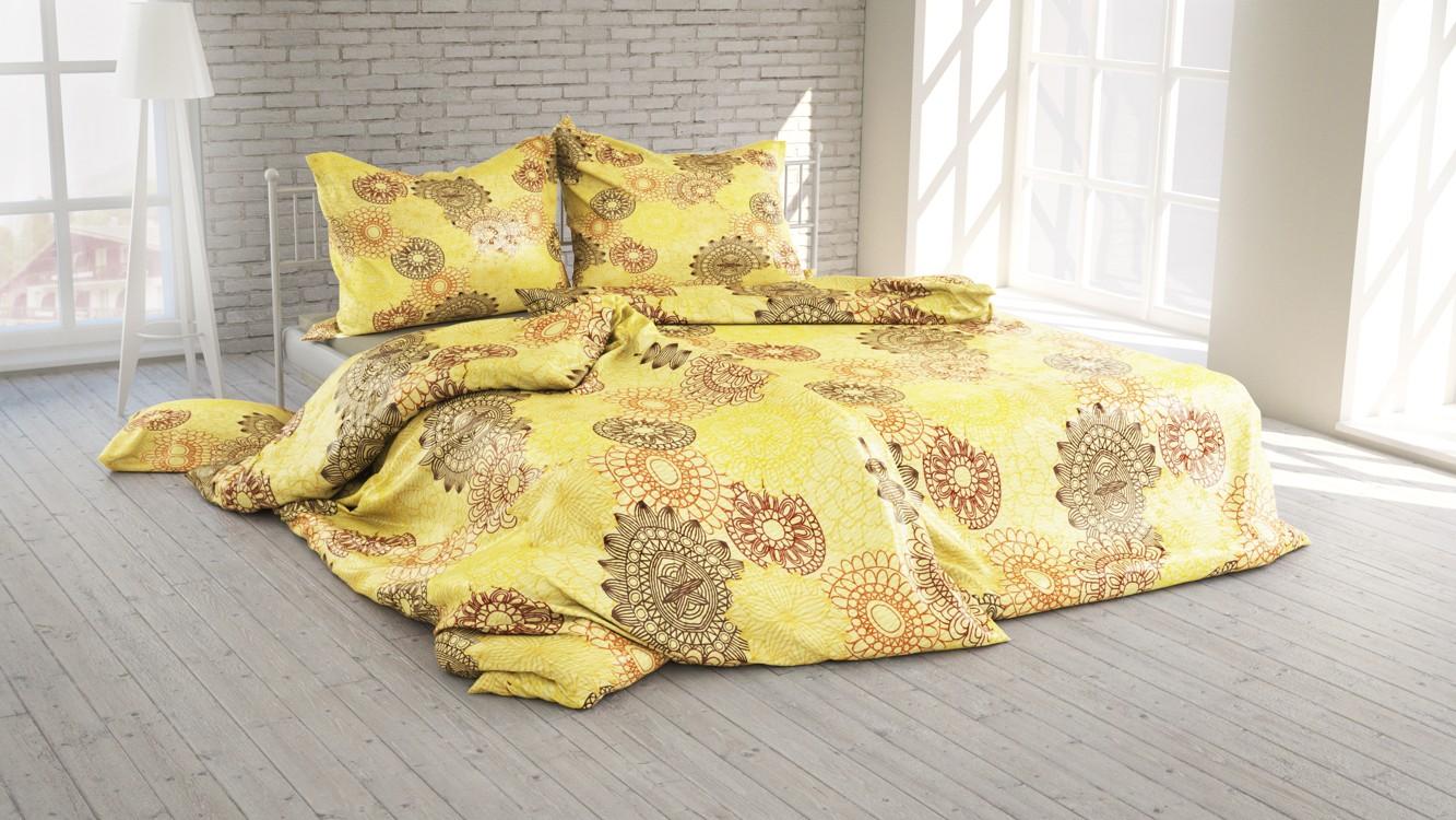 Polášek Povlečení Mandala sv. žlutá krep 40x40 100% bavlna abstrakce