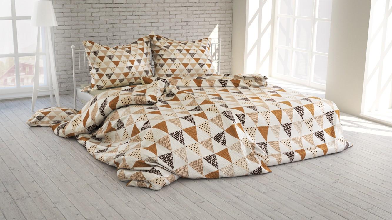 Polášek Povlečení Lenka krep béžová 40x40 100% bavlna abstrakce